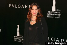 Drew Barrymore Dresses Down For Bulgari Party In Black Trouser Suit