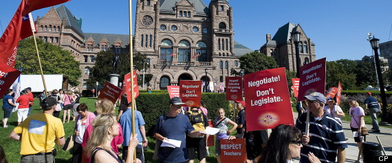 ONTARIO TEACHERS STRIKE MONDAY