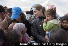 Angelina Jolie Photographed As She Meets With Refugees In Jordan