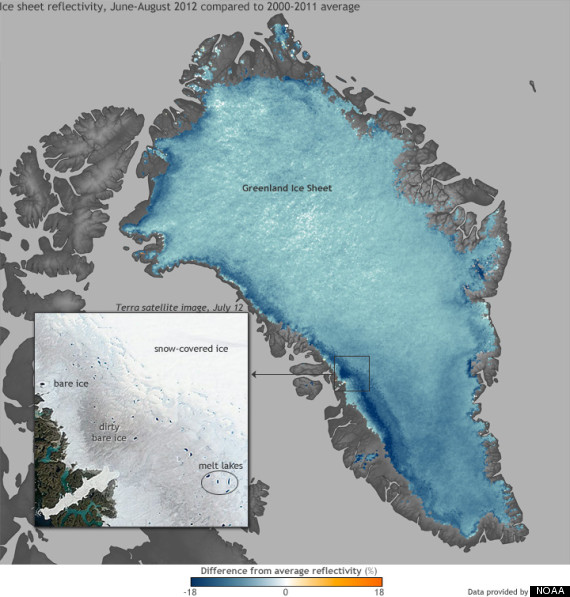 greenland ice sheet 2012