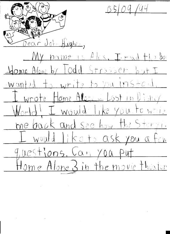 john hughes letter
