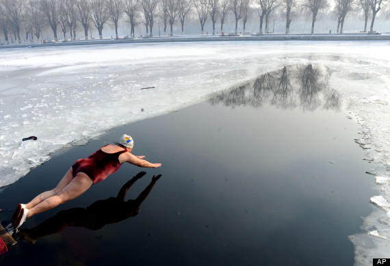 ice water swimmer