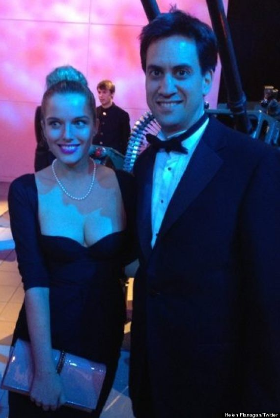 helen flanagan and ed miliband