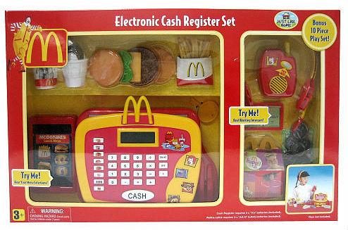 Mcdonald S Cash Register Playset Lower Your Kid S