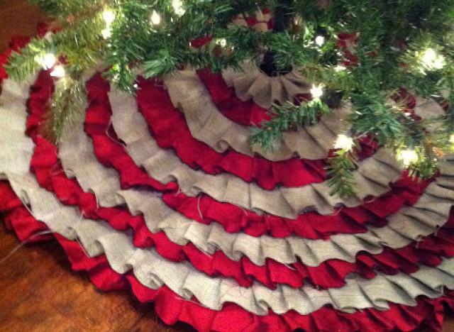 Holiday Craft Ideas: No Sew Ruffle Tree Skirt | HuffPost