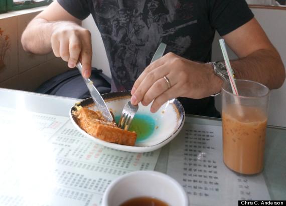 hong kong french toast iced milk tea