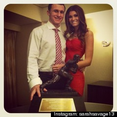 johnny manziel girlfriend sarah savage heisman