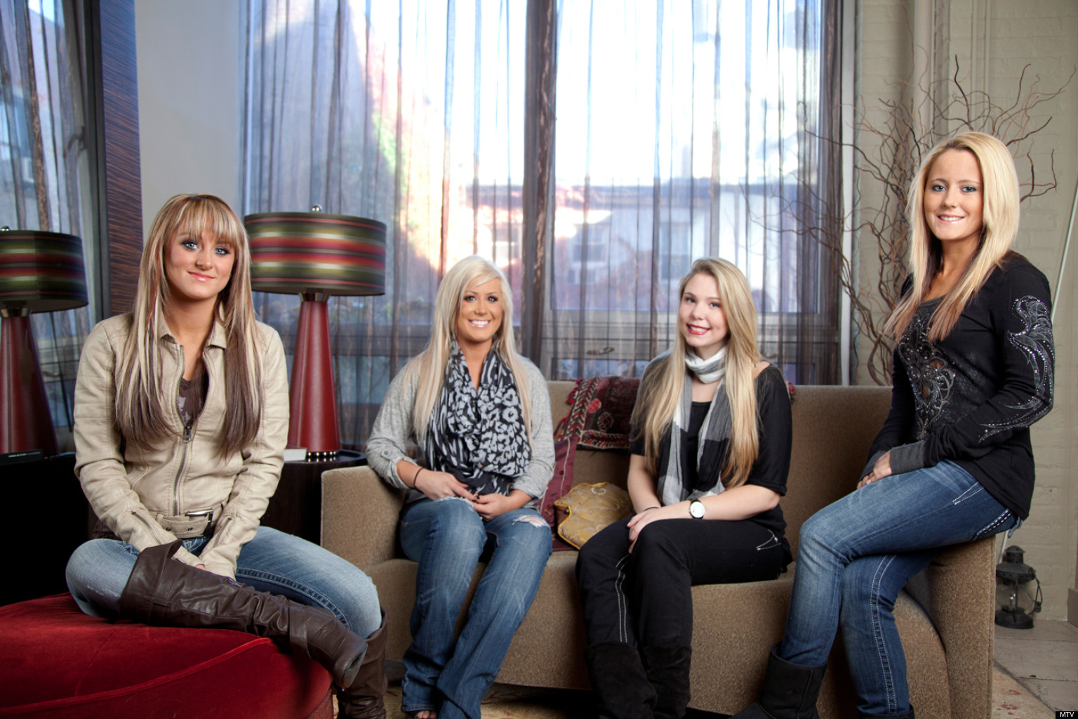MTV Orders More Teen Mom   The Remote Generation Daily Mail Teen Mom   Group Shot