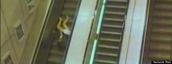 escalator fall