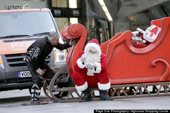 santa broke down