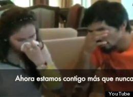 Con lágrimas, Pacquiao acepta la derrota (VIDEO)