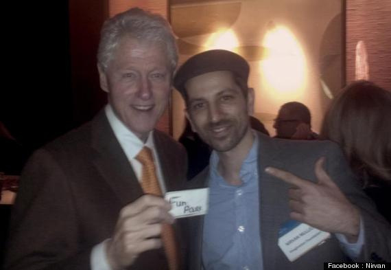 President Bill Clinton and Nirvan Mullick