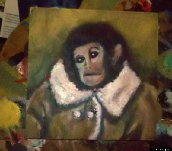 ikea monkey painting