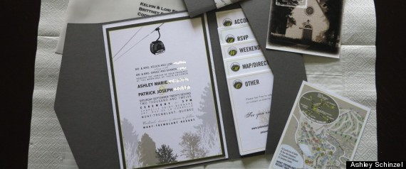 What Goes On A Wedding Invitation: Wedding Invitation Ideas From Real Weddings (PHOTOS