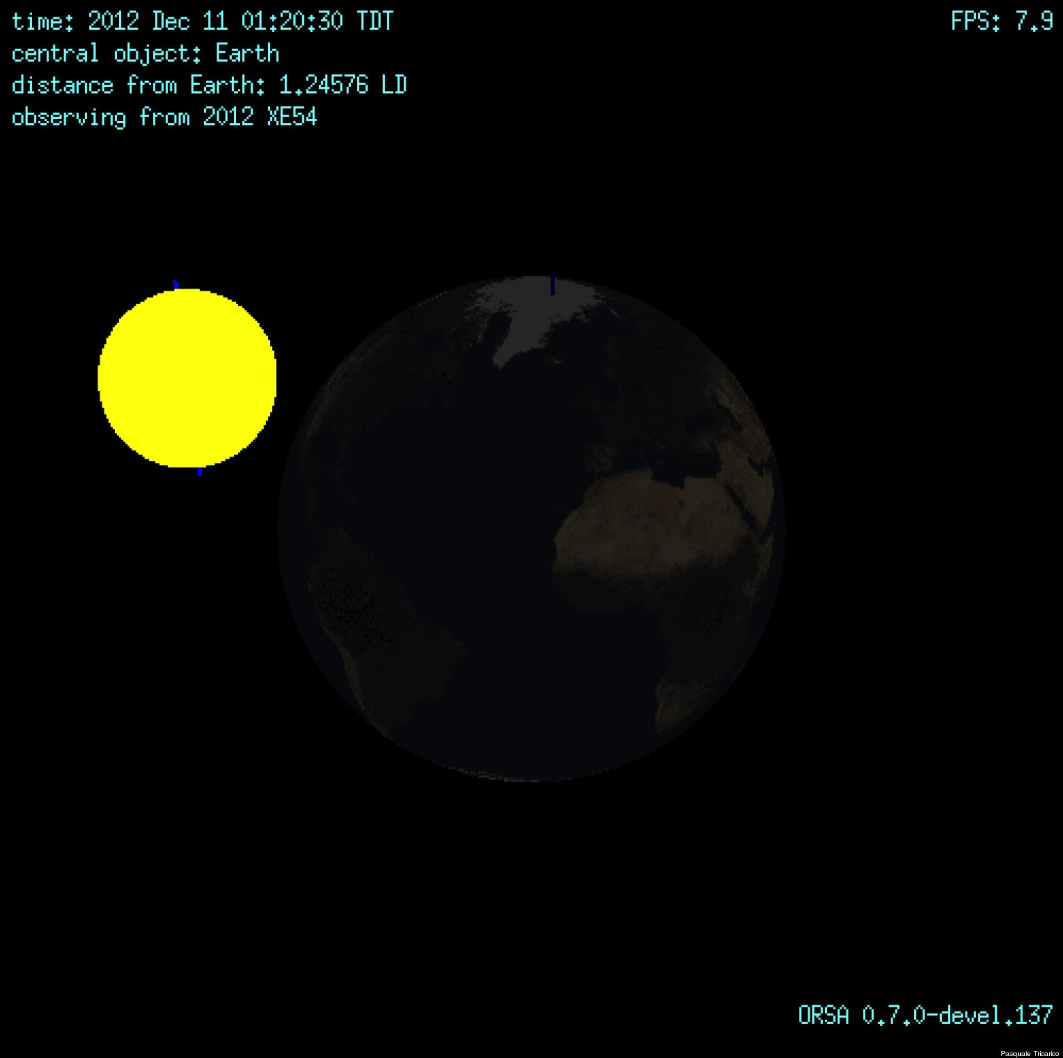 shooting asteroids from earth view - photo #33