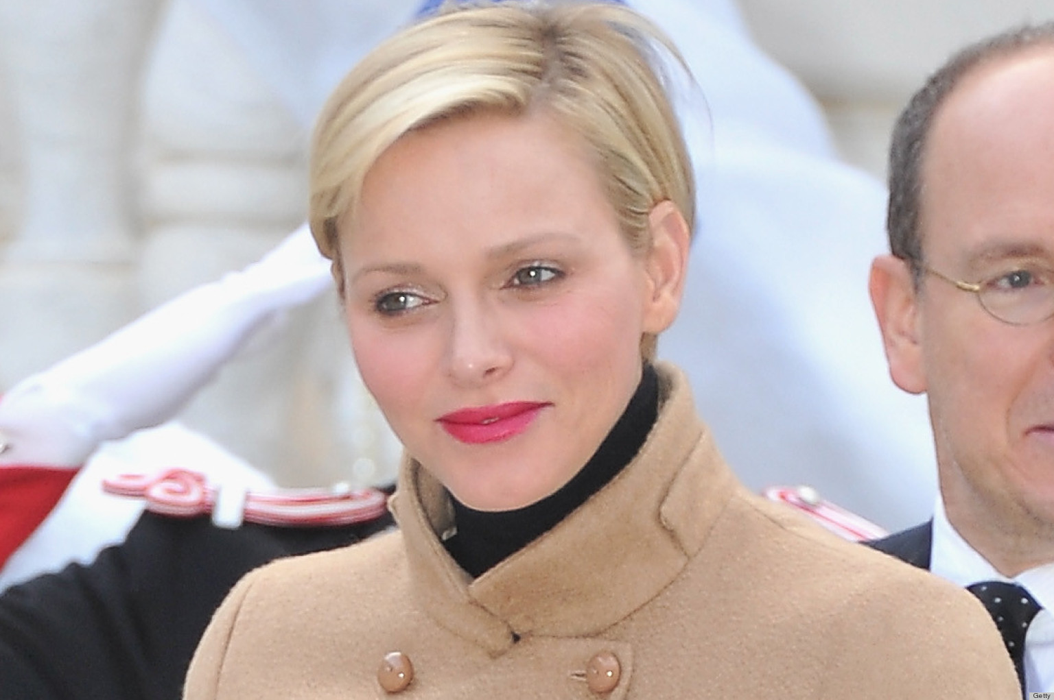 princess charlene aces camel look during christmas
