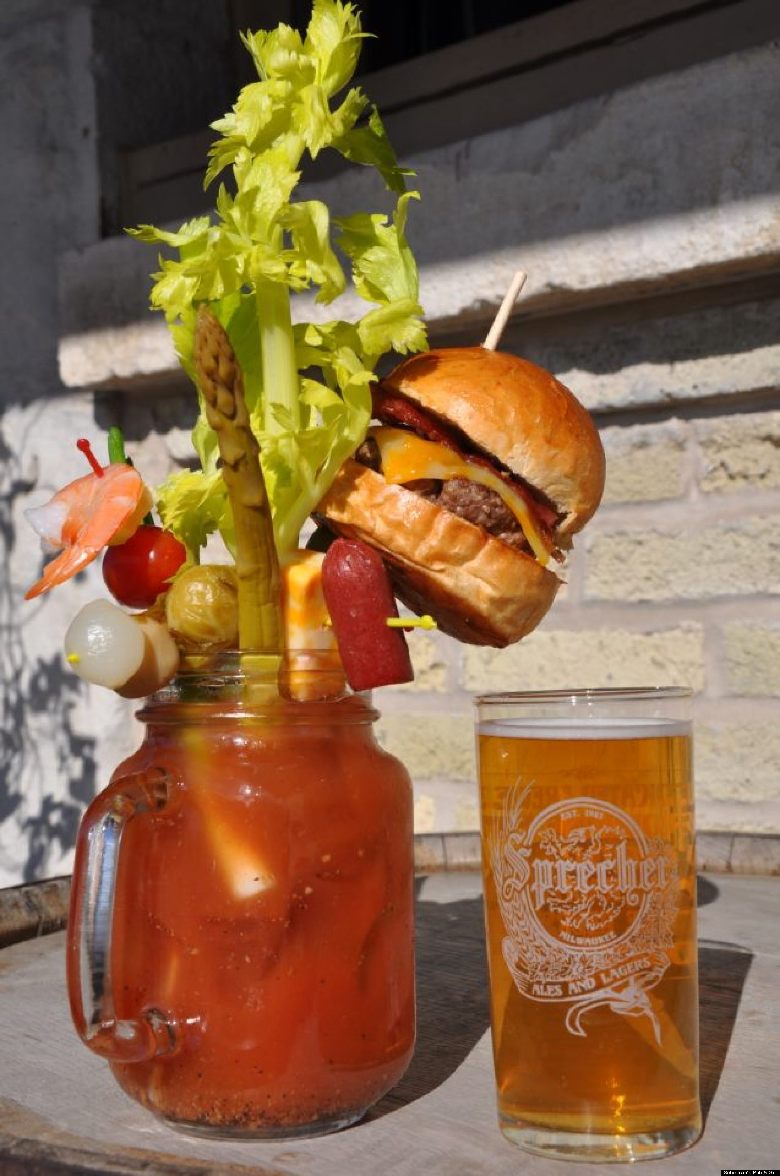 Cheeseburger Bloody Mary From Sobelman's Pub & Grill Is ...