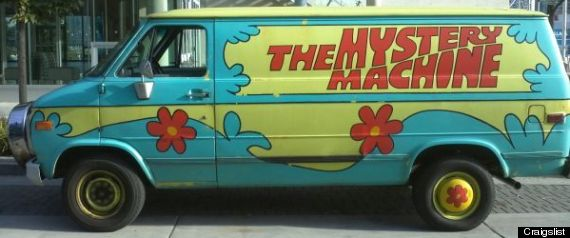 Scooby Doo Mystery Machine Van http://www.huffingtonpost.ca/2012/12/12/mystery-machine-for-sale-scooby-doo-van-craigslist_n_2287646.html