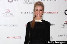 Downton's Joanne Froggatt Masters Sixties Chic In Monochrome Mini Dress