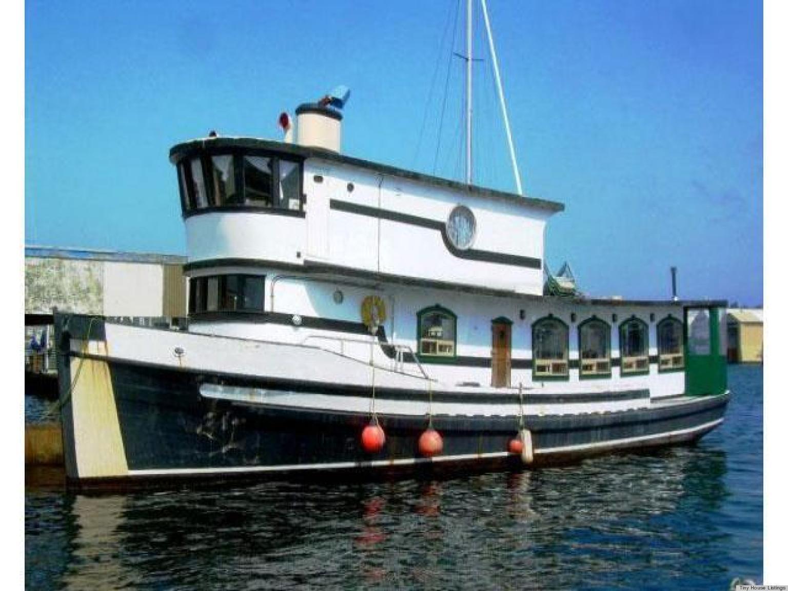 Pilot house trawler aka fishing boat converted into for Pilot house fishing boats
