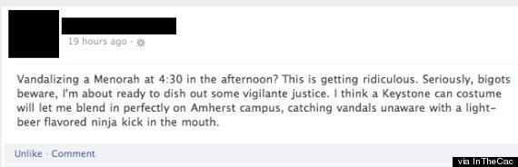 amherst menorah facebook