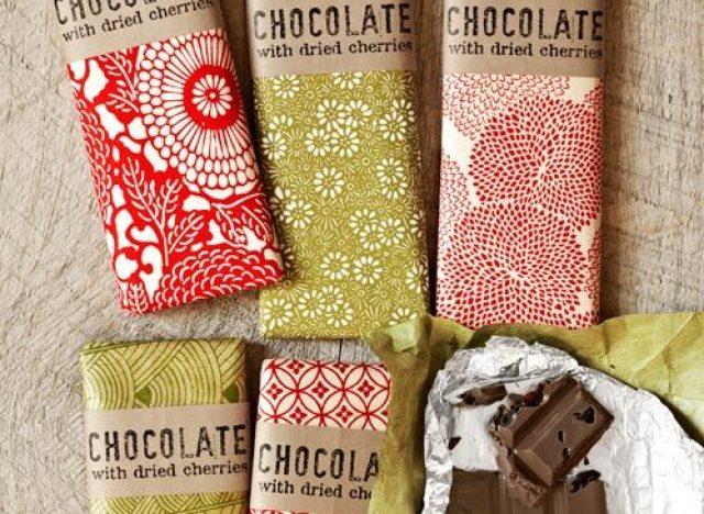 Homemade Gift Ideas: Tart-Cherry and Dark Chocolate Bar Wrappers ...