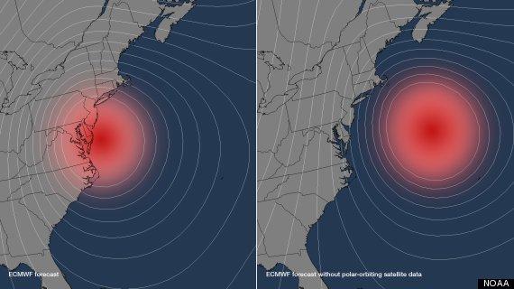 hurricane sandy polar satellites