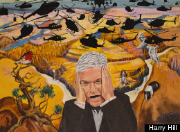 Which Comedian Has Painted Philip Schofield In Hell?