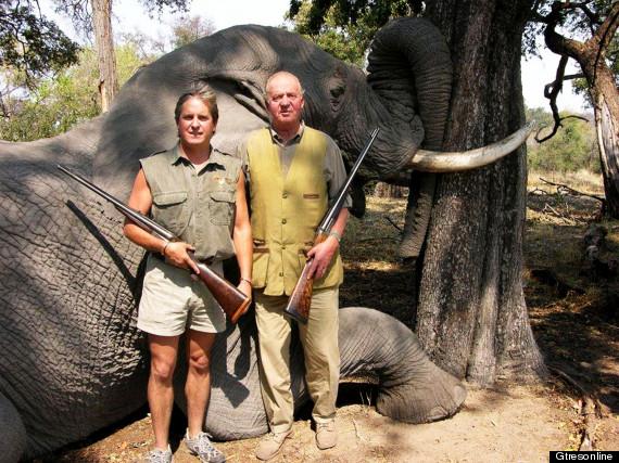 fotos del rey cazando con elefante