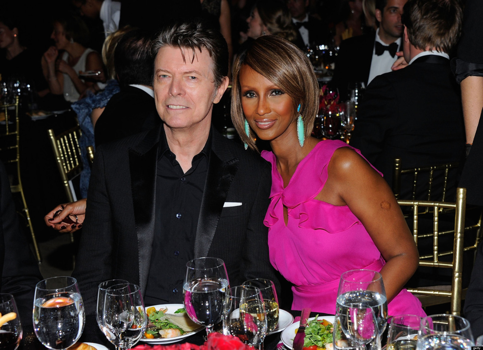 Iman And David Bowie Celebrate 20th Wedding Anniversary