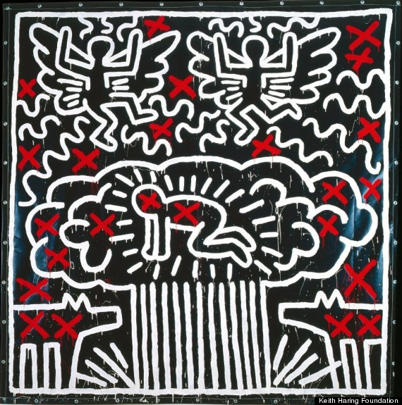 keith haring political line paris