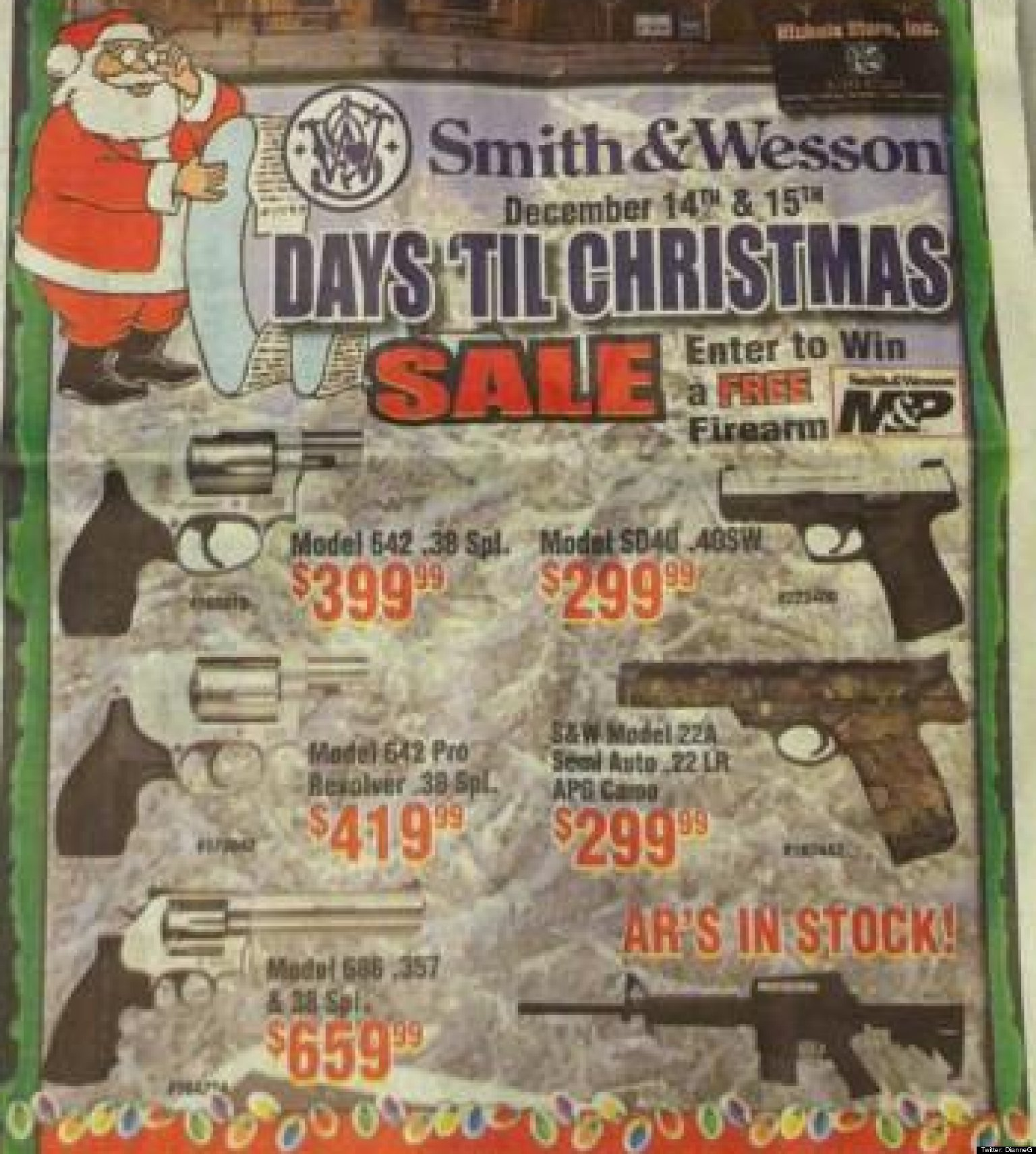 The Herald Newspaper Features Huge Gun Ad Next To Story Of