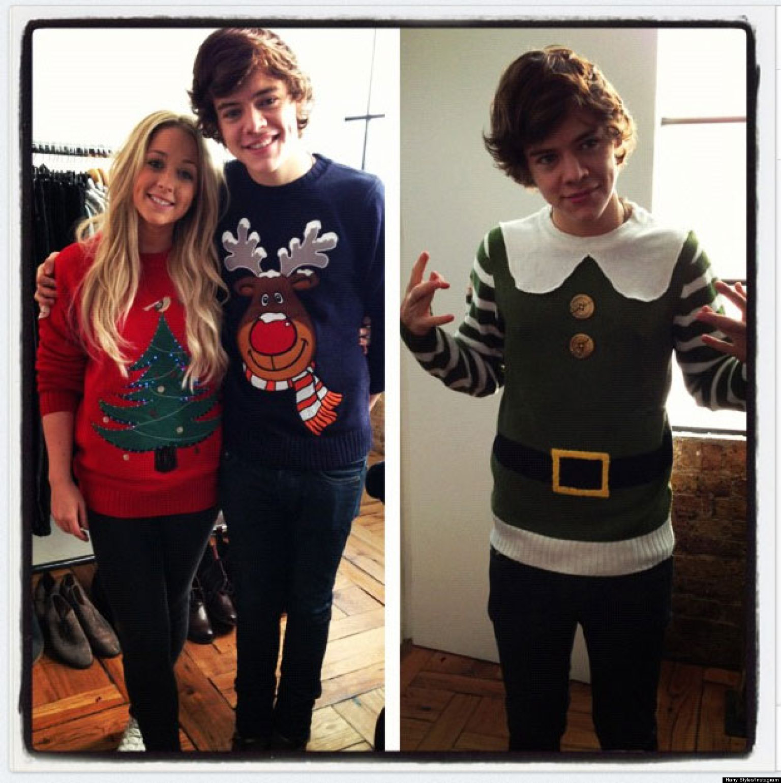 Harry Styles Is The Perfect Christmas Elf As He Dons