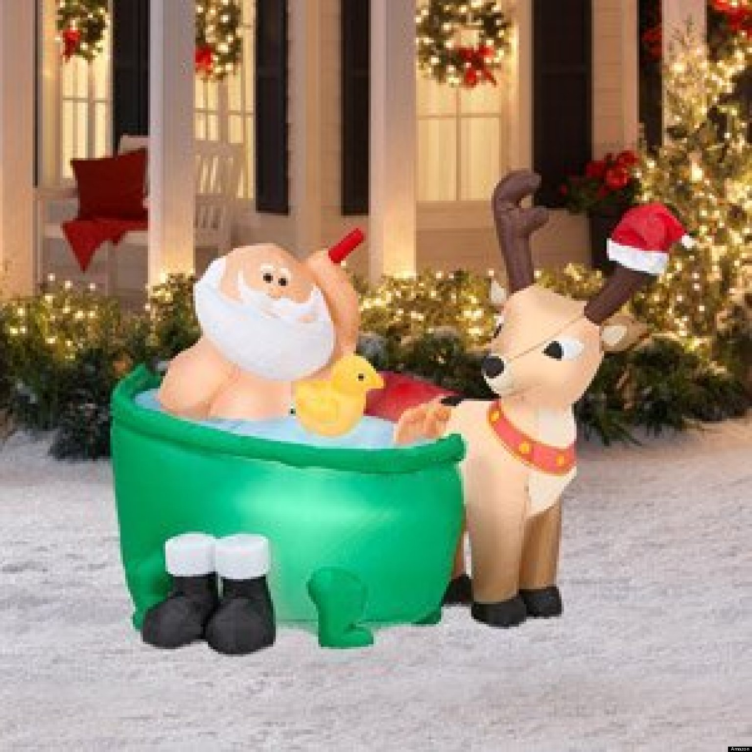 Stupendous Worst Inflatable Christmas Decorations Photos The Huffington Post Easy Diy Christmas Decorations Tissureus