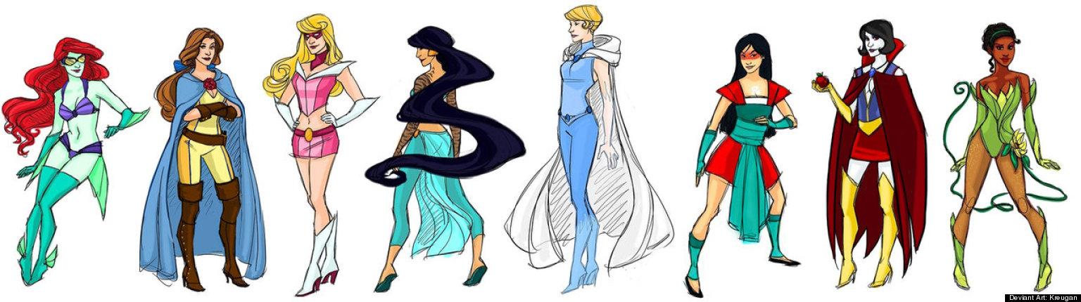 Disney Princesses As Superheroes Images