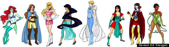 disney princess superheroes