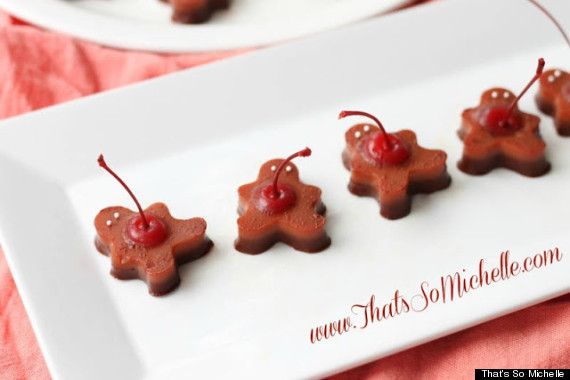 gingerbread men jello shots