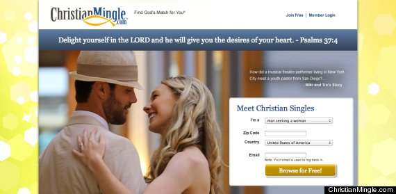 Christian dating landing page