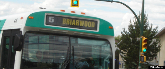 SASKATOON BUS MERRY CHRISTMAS