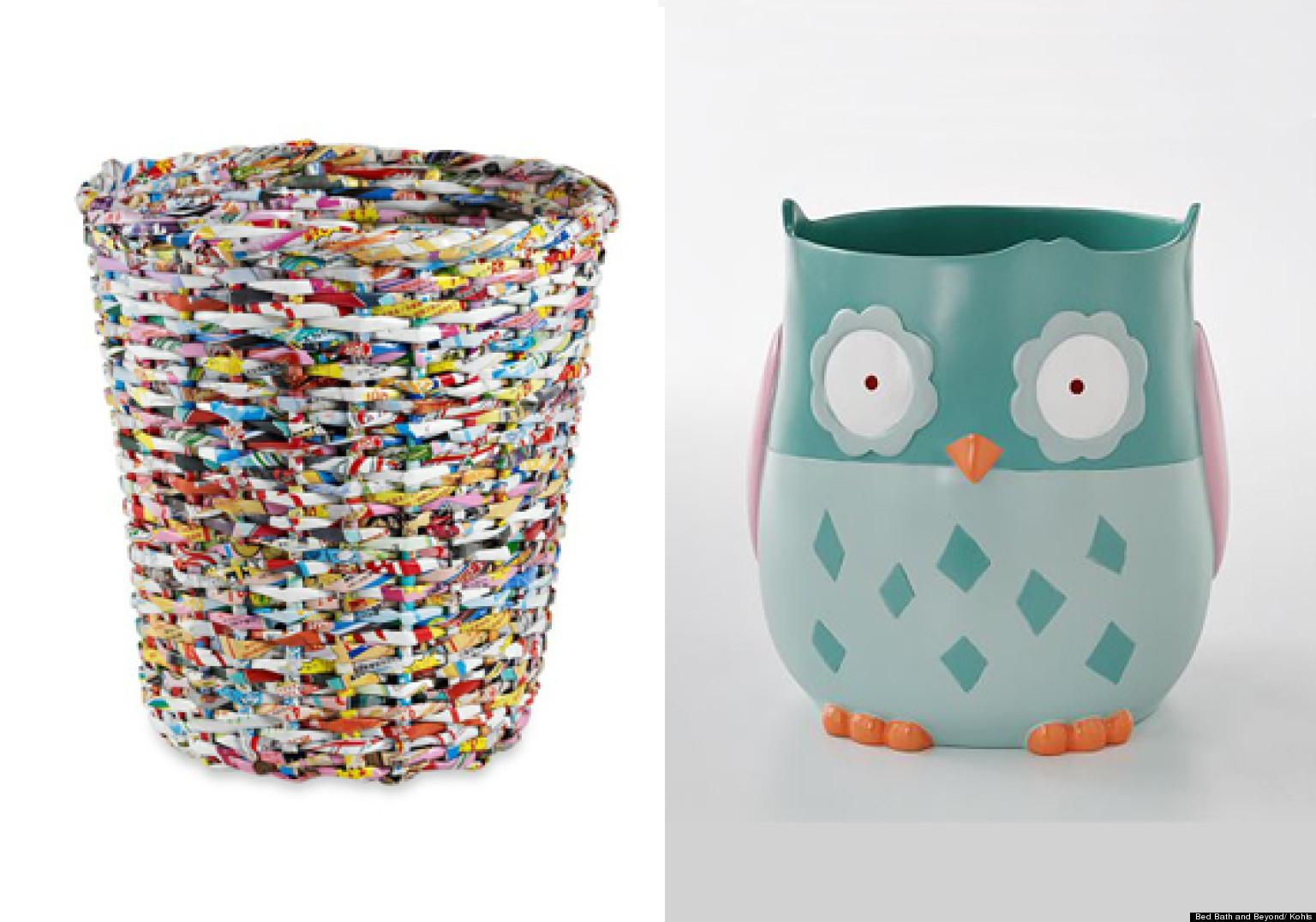 Contenedores de basura originales para tu ba o fotos - Cesto de trapillo para el bano ...