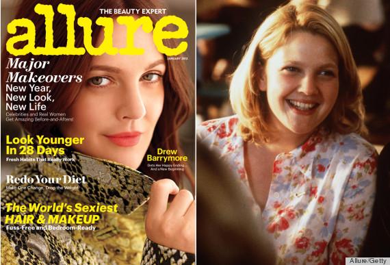 Drew Barrymore's Makeup In Allure Channels Her '90s Self