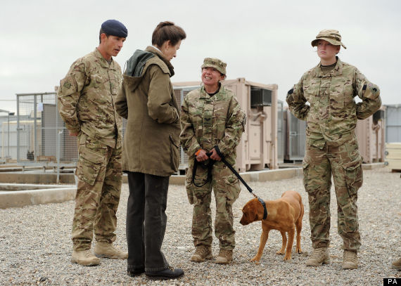 princess royal visits afghanistan