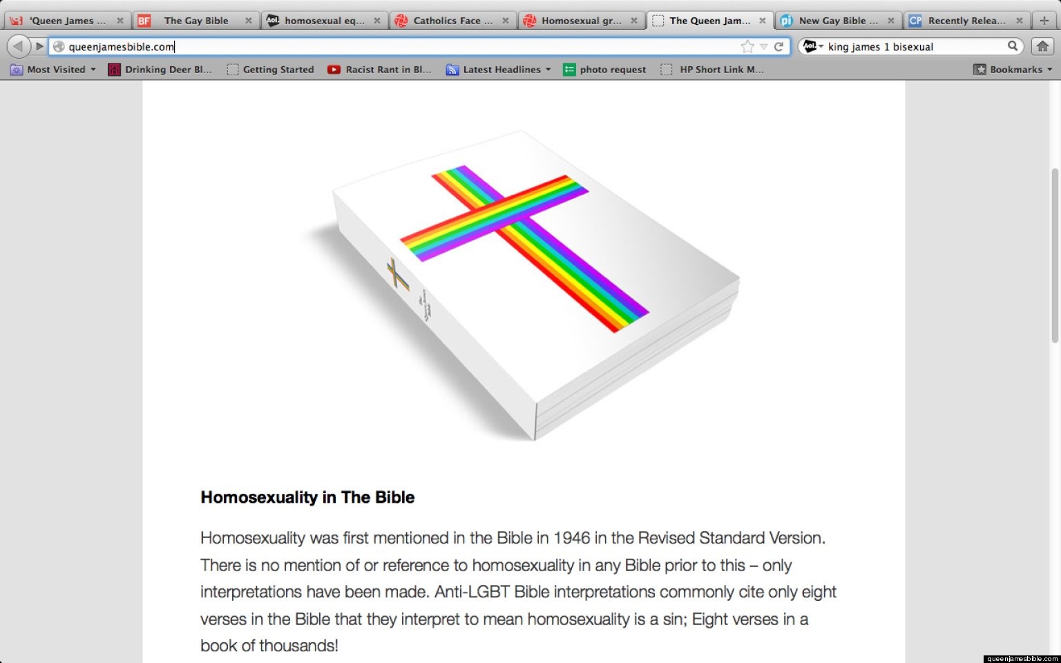 Homosexuality on bible verses