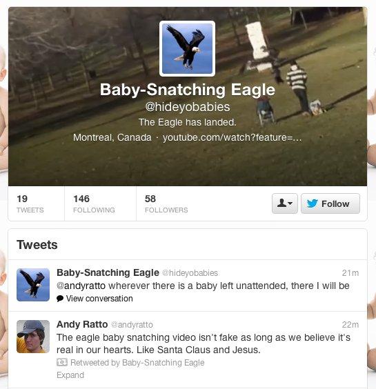 eagle baby twitter parody