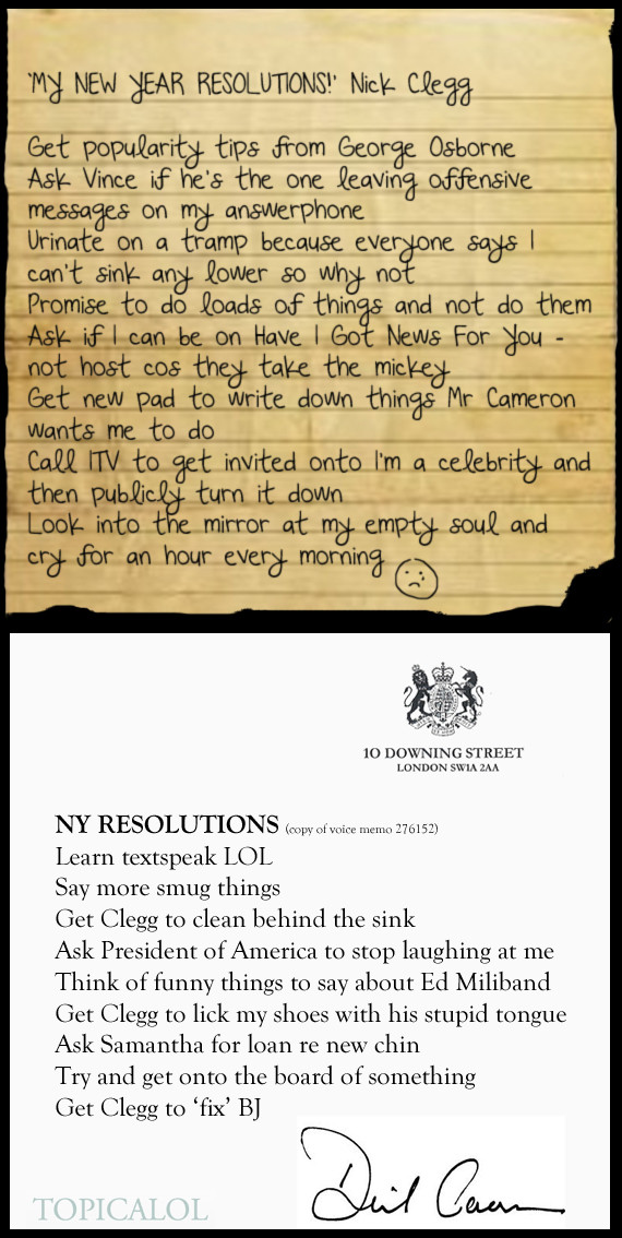 cameron clegg resolutions