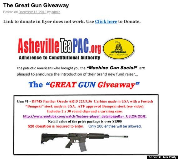asheville tea party gun raffle