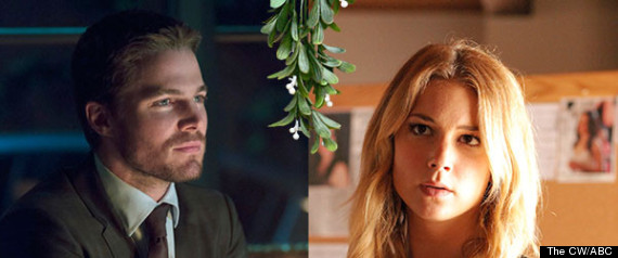 TV CHARACTERS MISTLETOE PAIRINGS