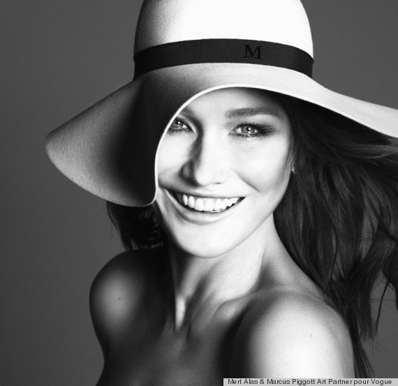 carla bruni guest edits paris vogue