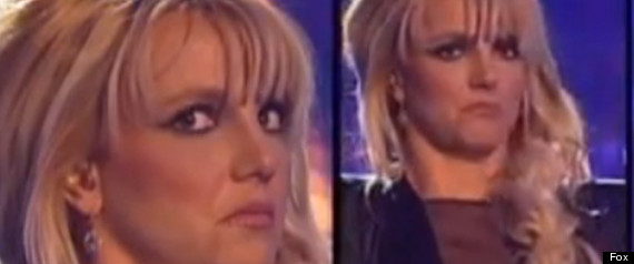 BRITNEY SPEARS THE X FACTOR FACES