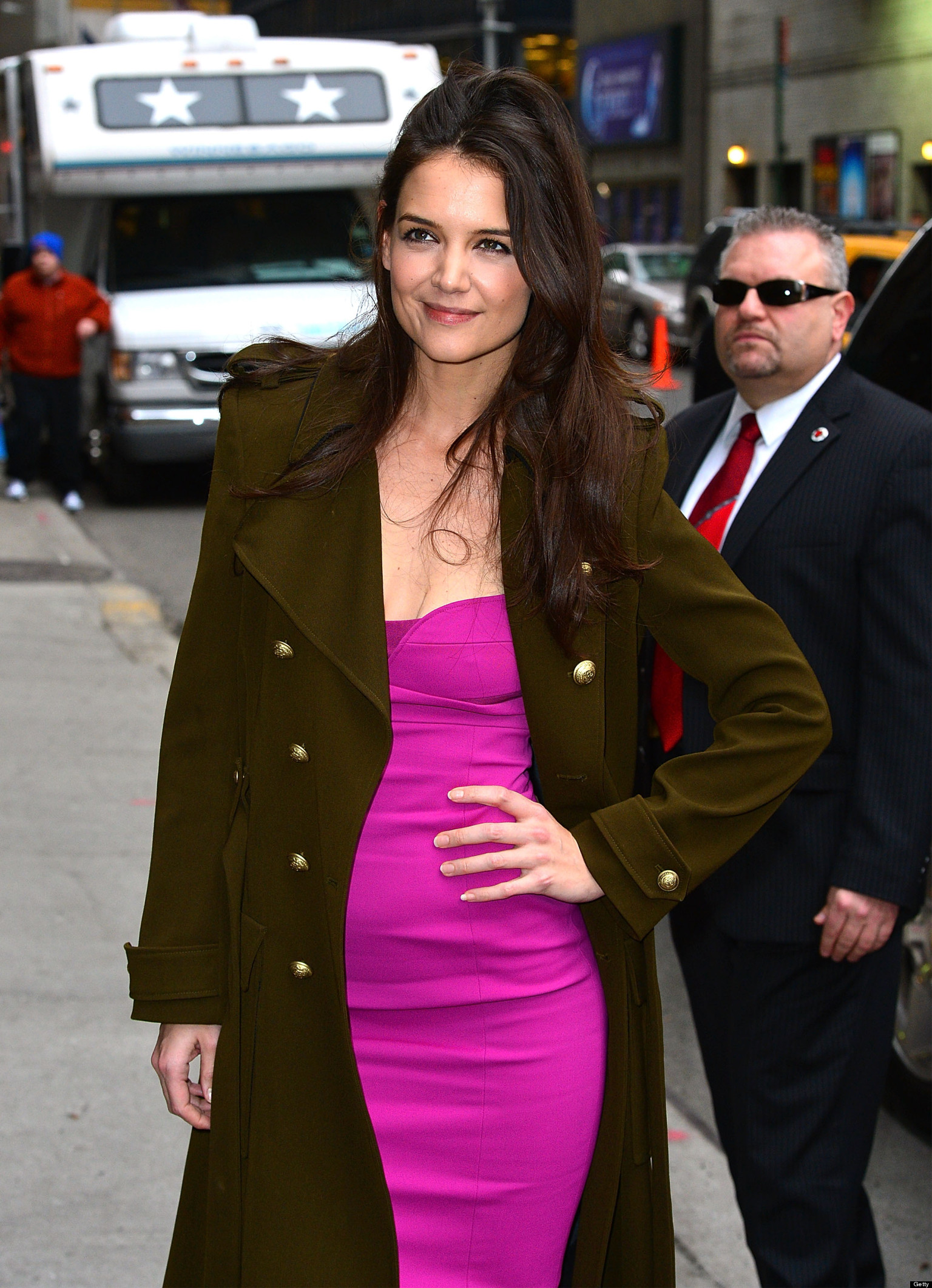 Katie Holmes Hot Actress Shines At David Letterman Huffpost